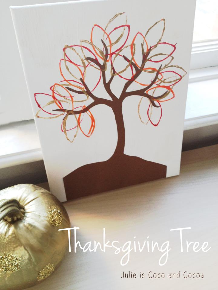 thanksgiving tree leaves thankful