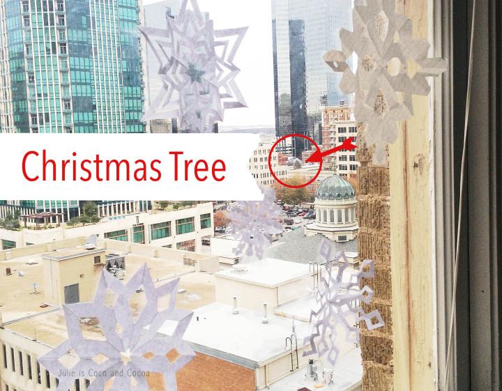 snowflakes fort worth christmas tree