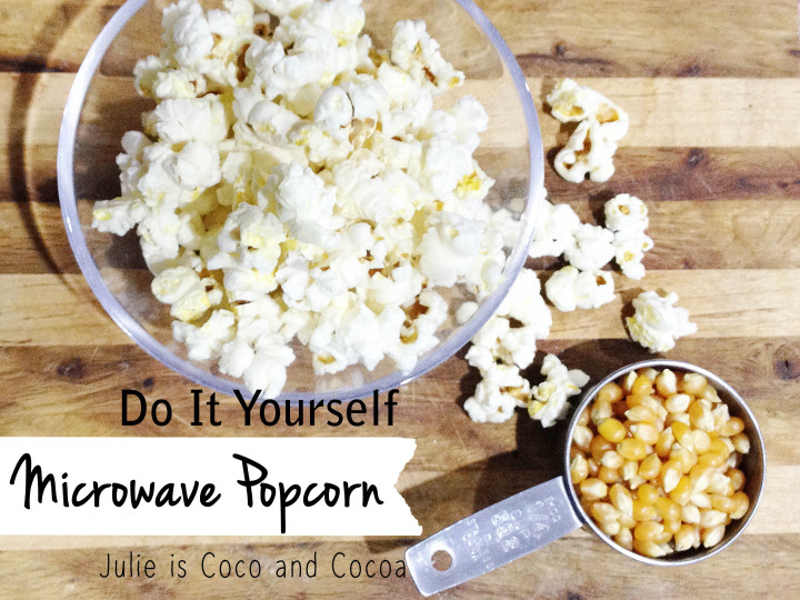 diy do it yourself microwave popcorn