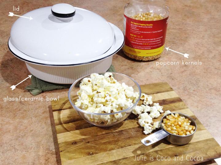 diy microwave popcorn popped kernals