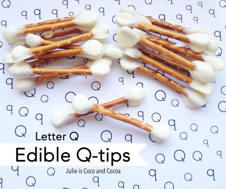 letter q edible qtips