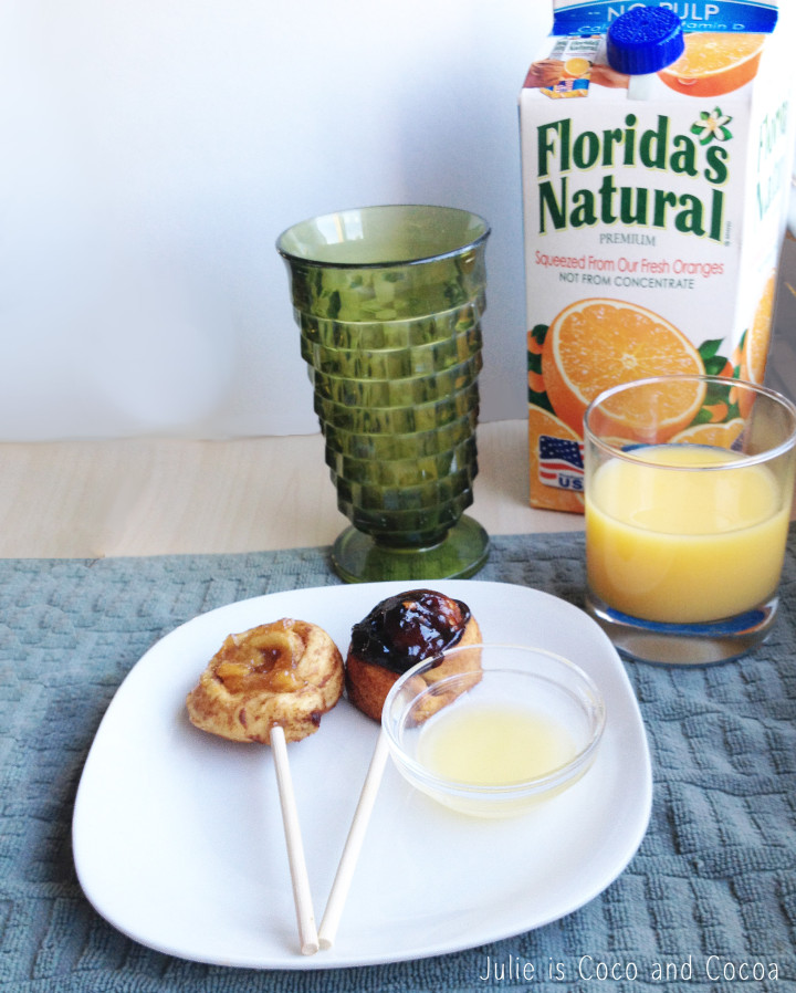 warmupyourday orange juice dipping rolls