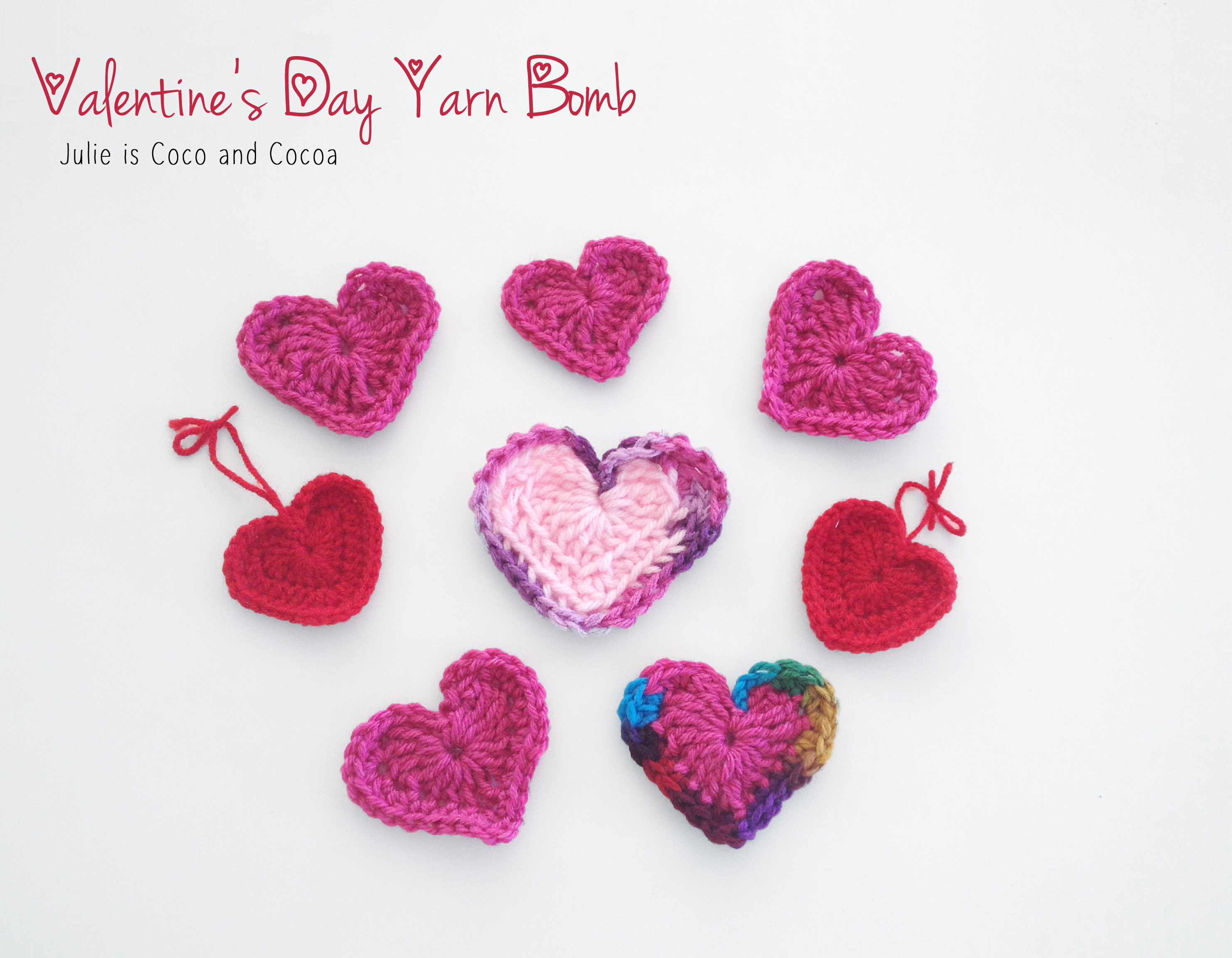 heartsstitchedtogether valentine heart yarn bomb