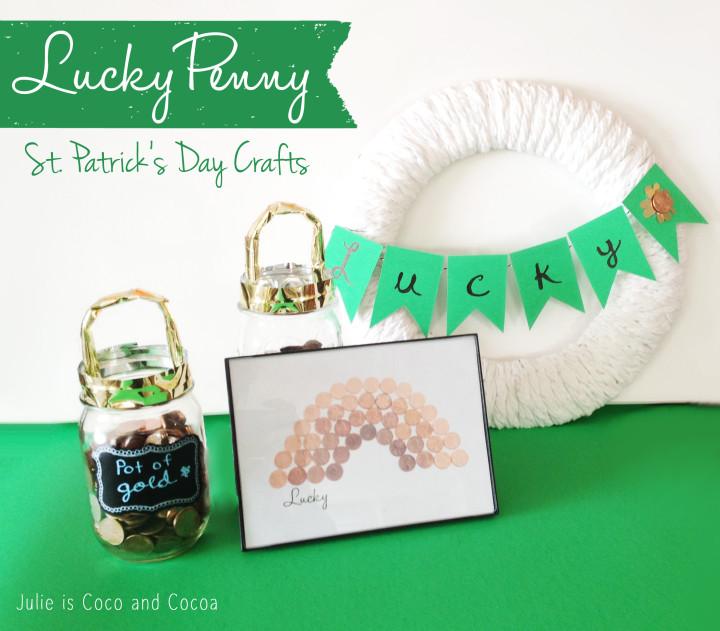 lucky penny st patricks day crafts