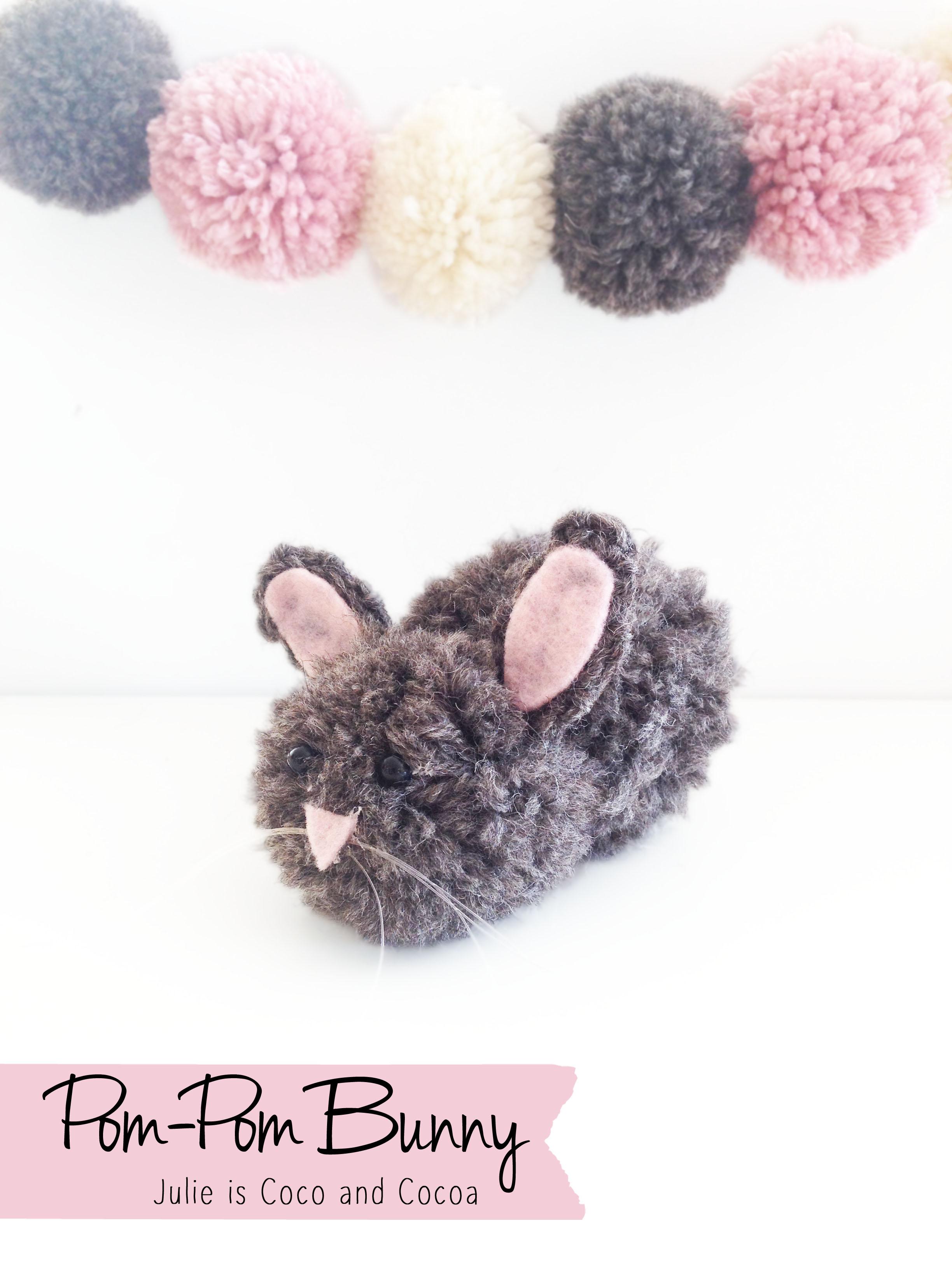 bunny yarn pom pom easter