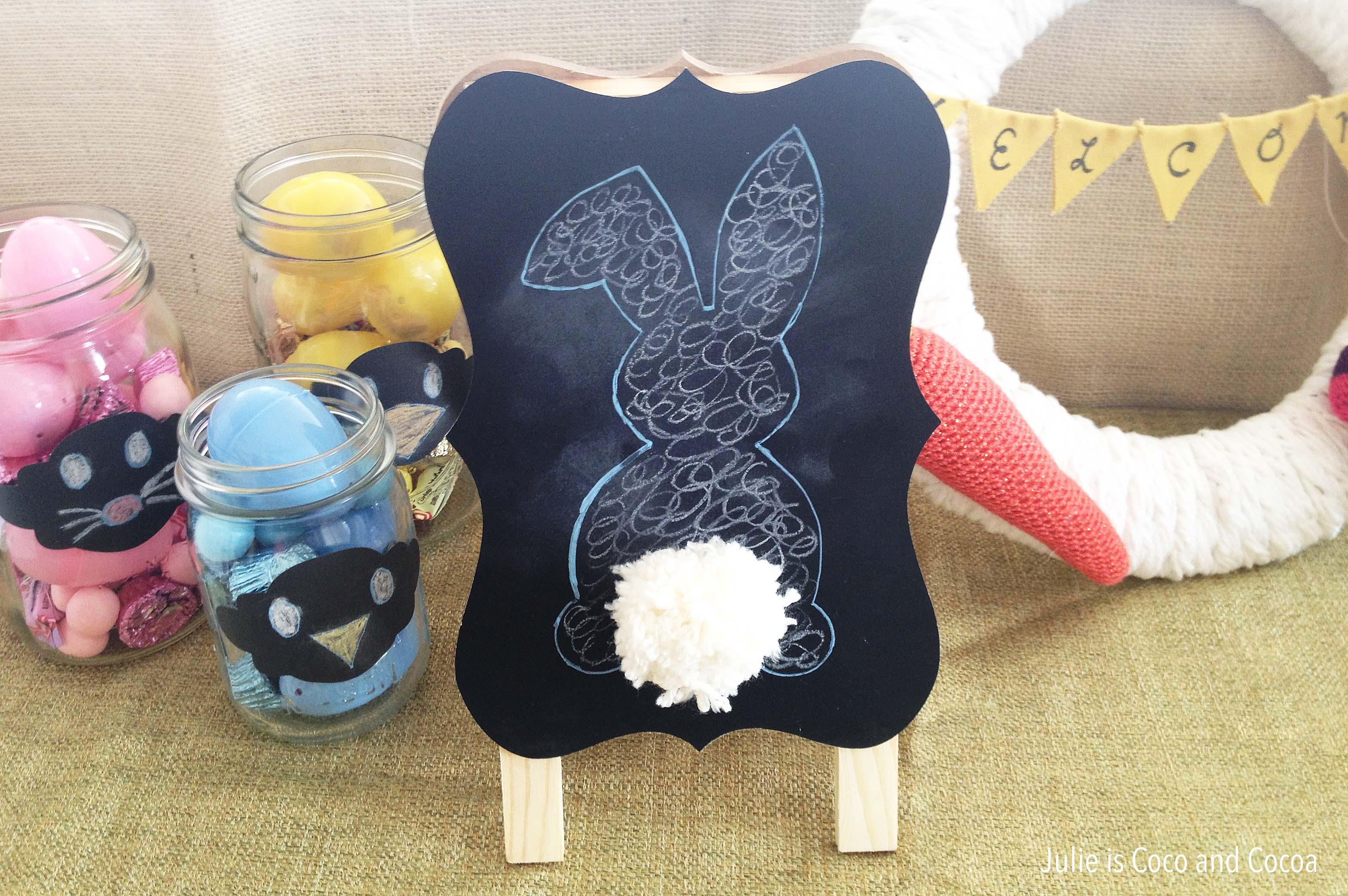 easter chalkboard bunny