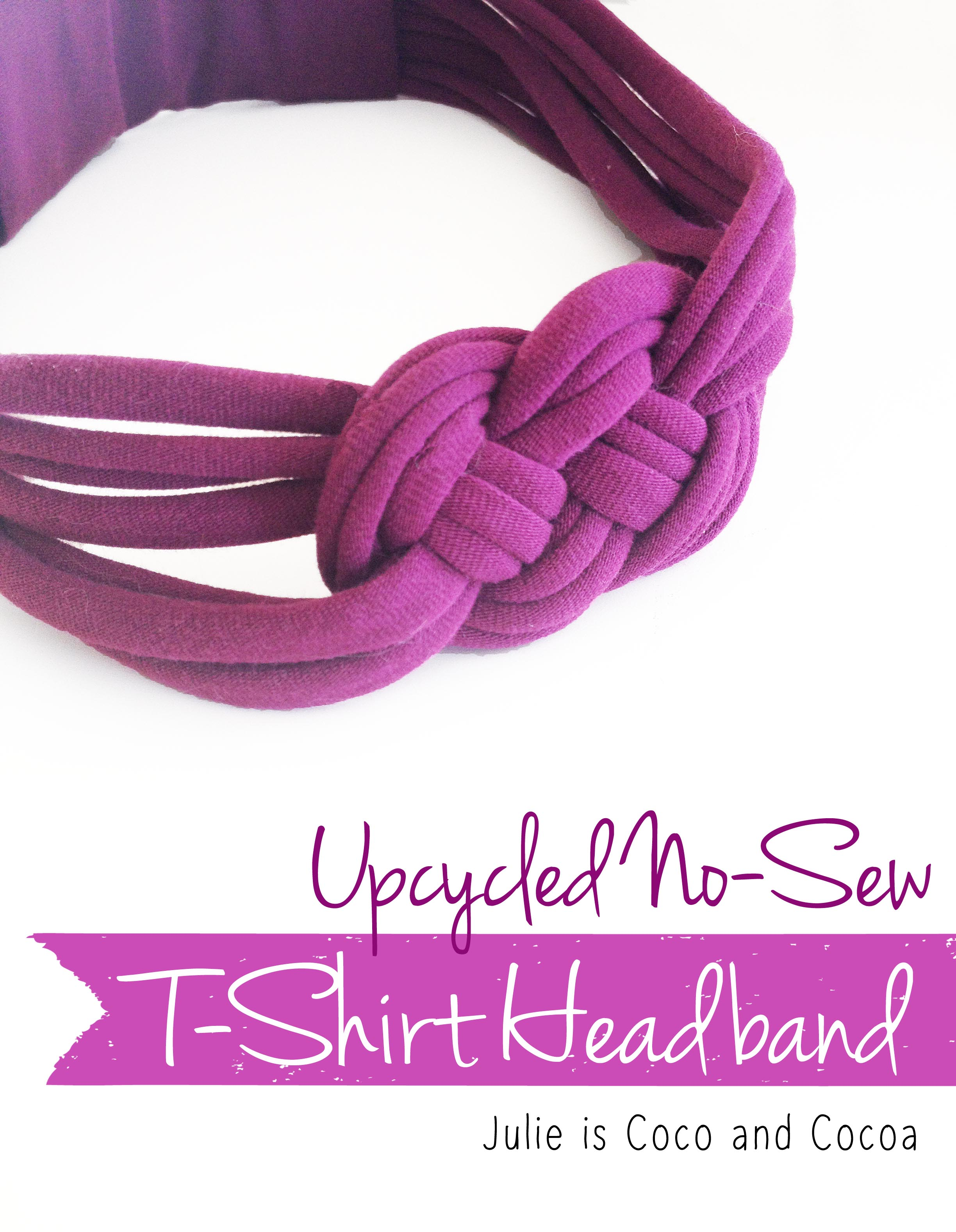 Upcycled No Sew Knotted T Shirt Headband