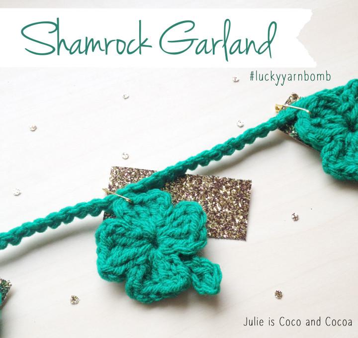 lucky yarn bomb garland