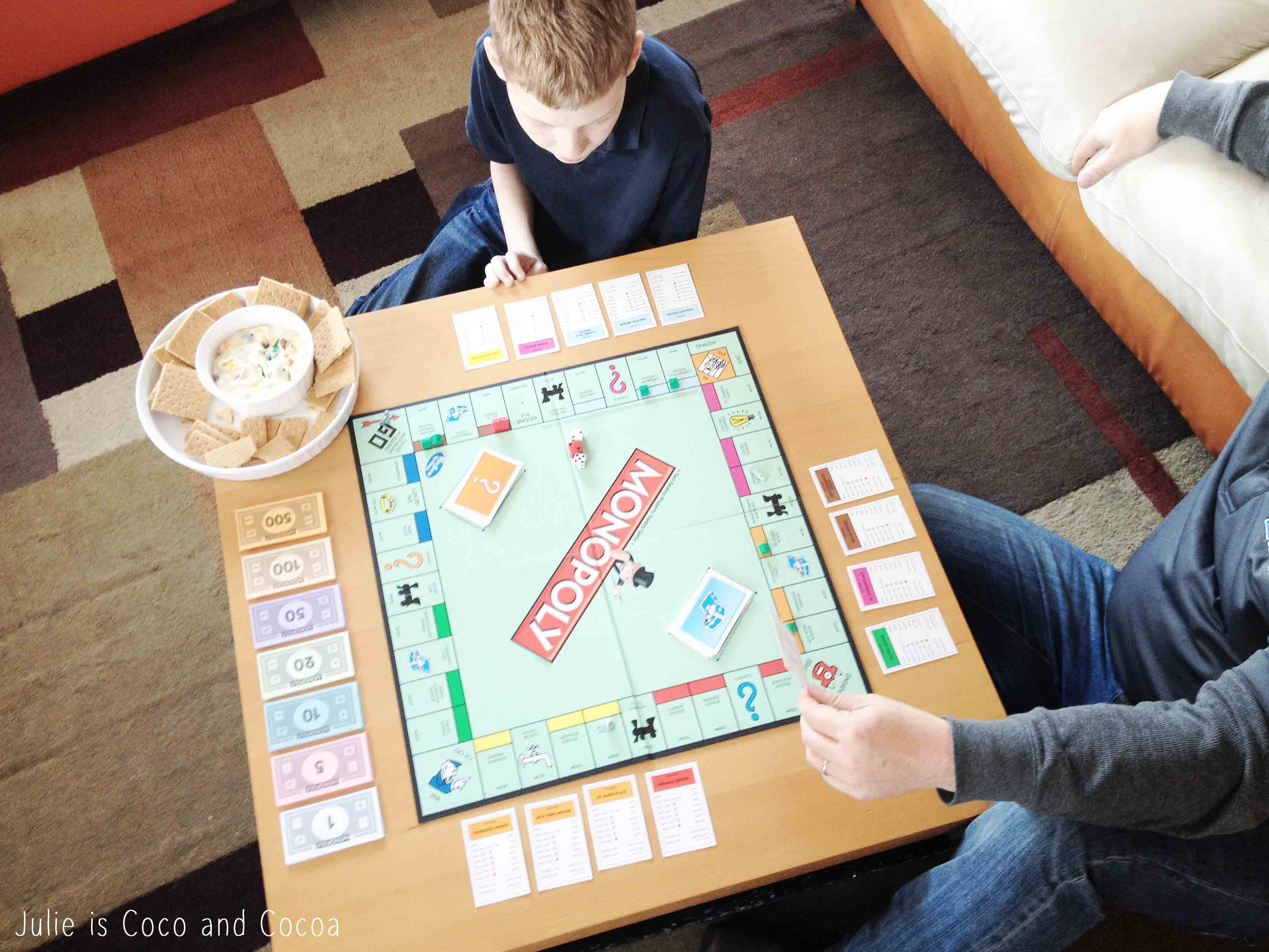 game night monopoly dad