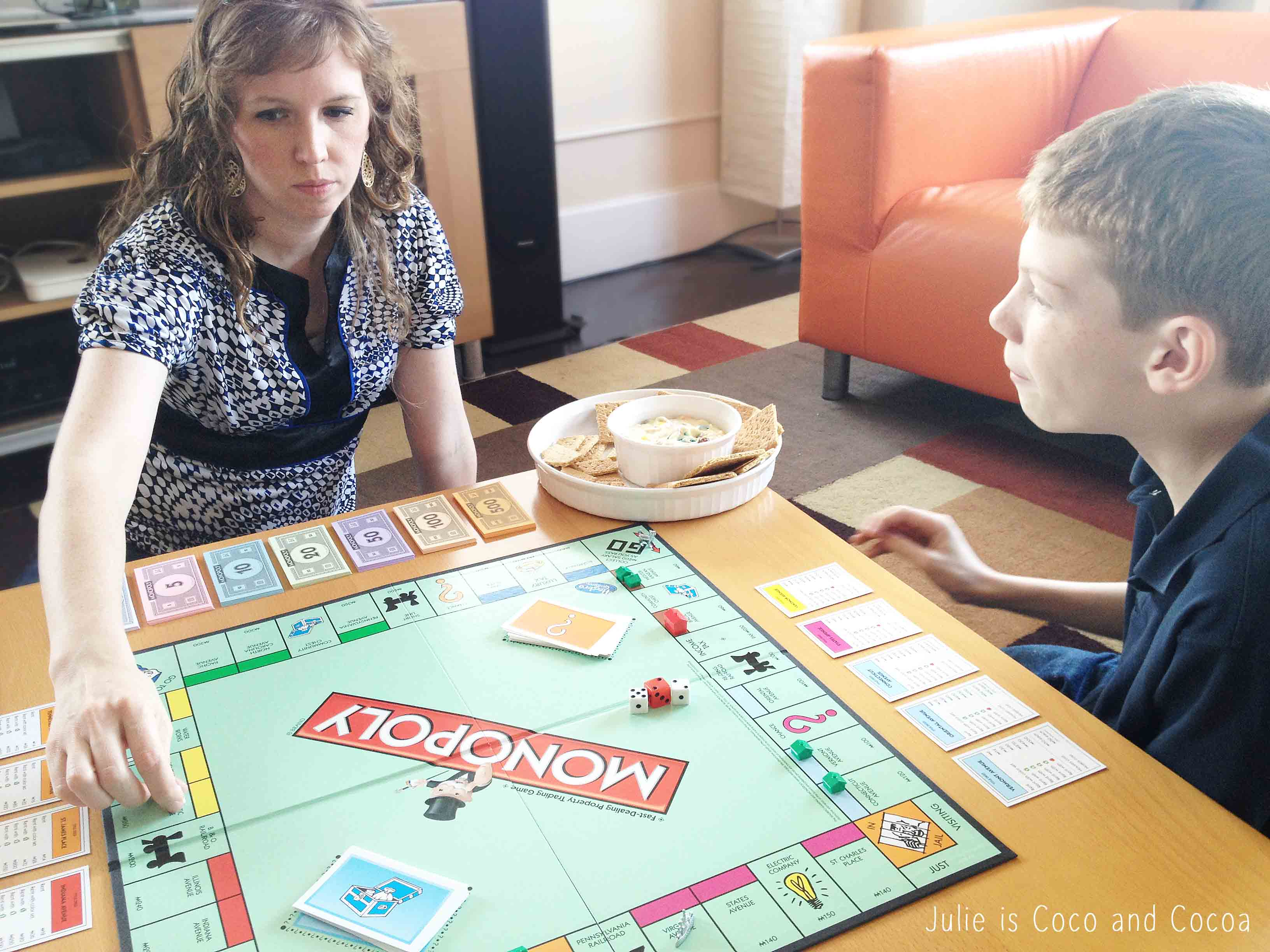 game night monopoly mom
