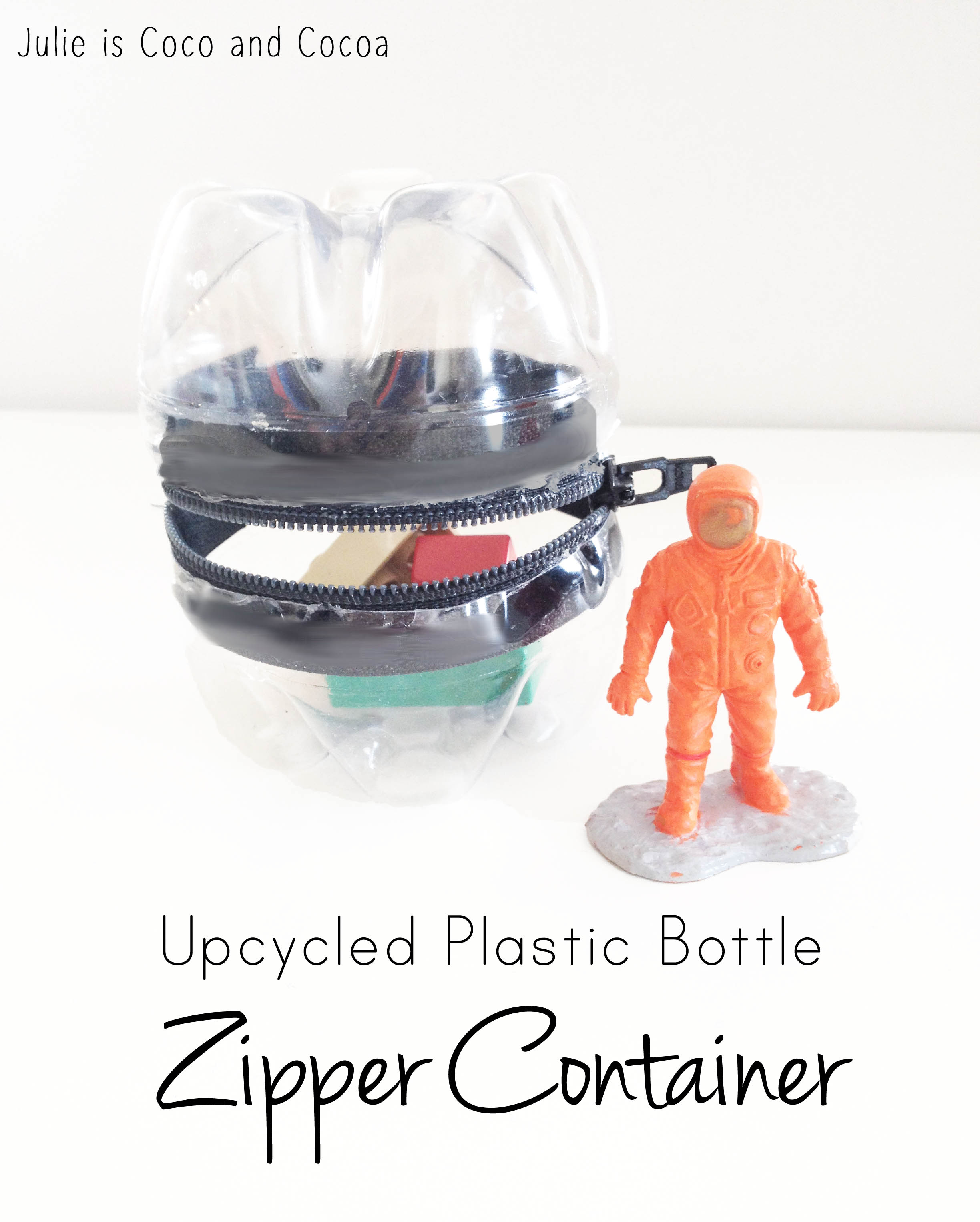 zipper upcycled plastic bottle zipper container