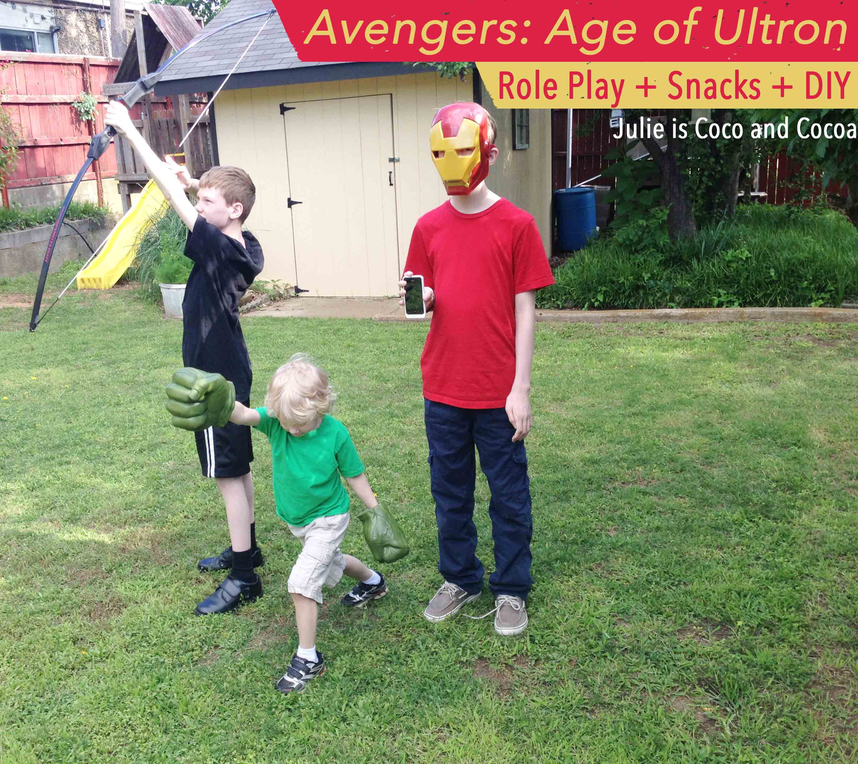 Avengers Age Of Ultron Role Play, Snacks, And A DIY
