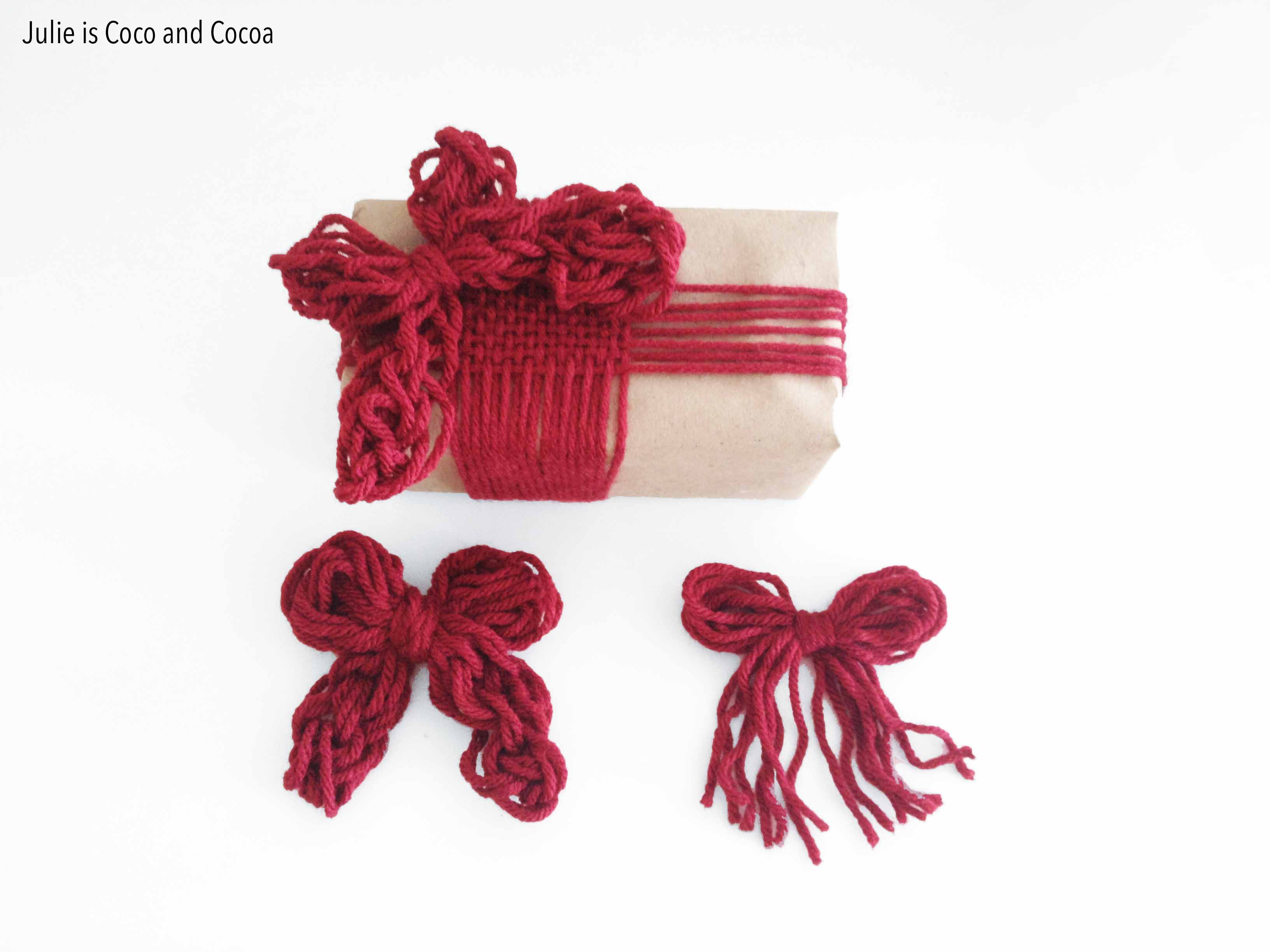 love2love weaving finger knit bows