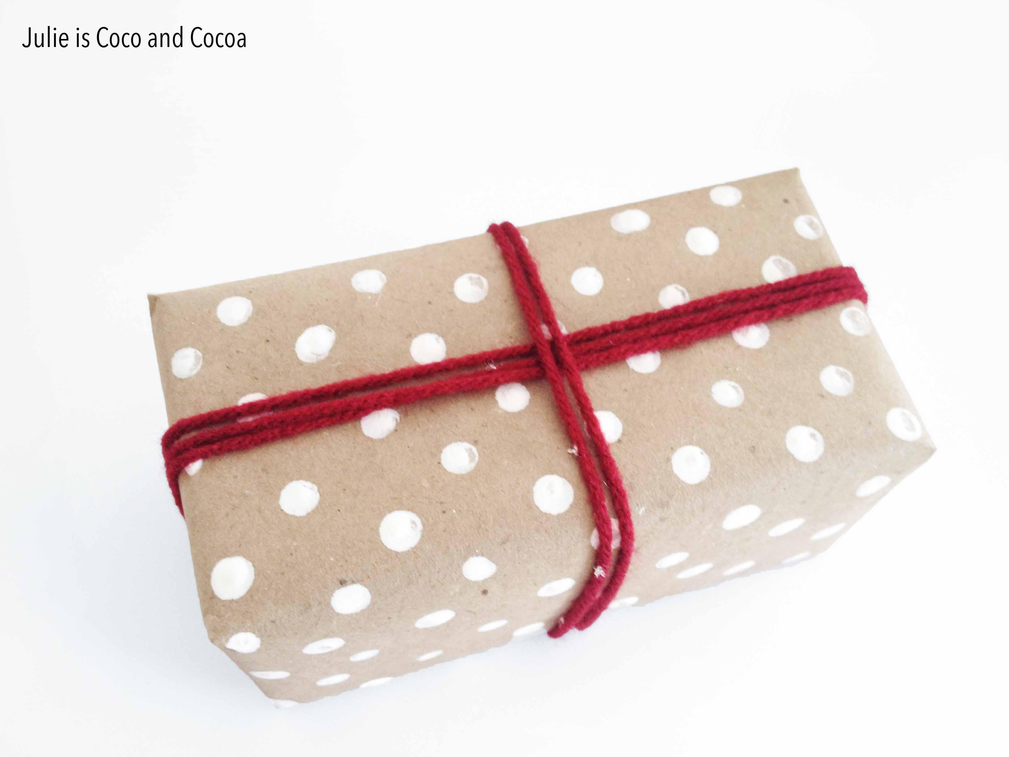 love2love white polka dot wrapped