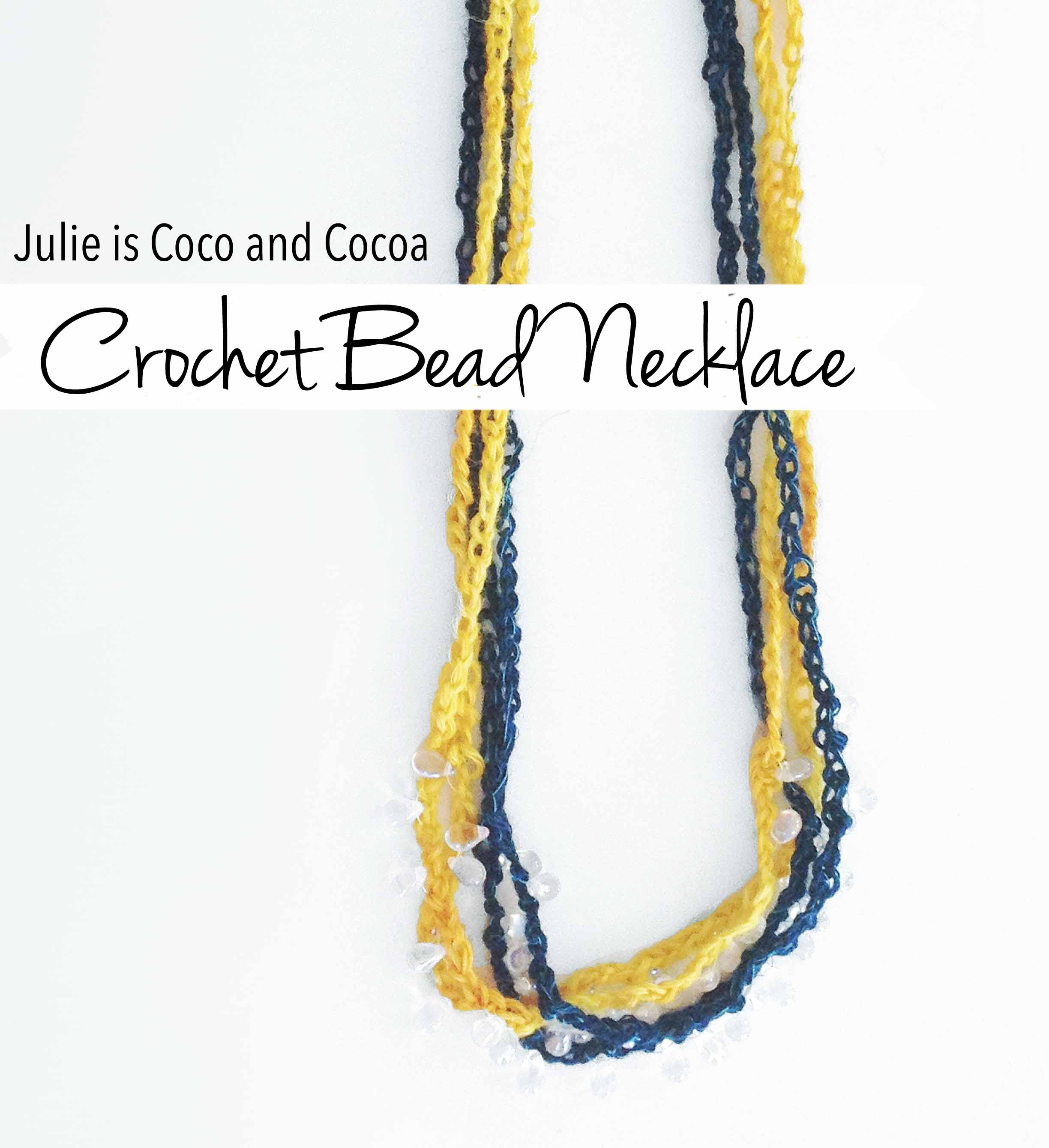crochet bead necklace julie is coco and cocoa