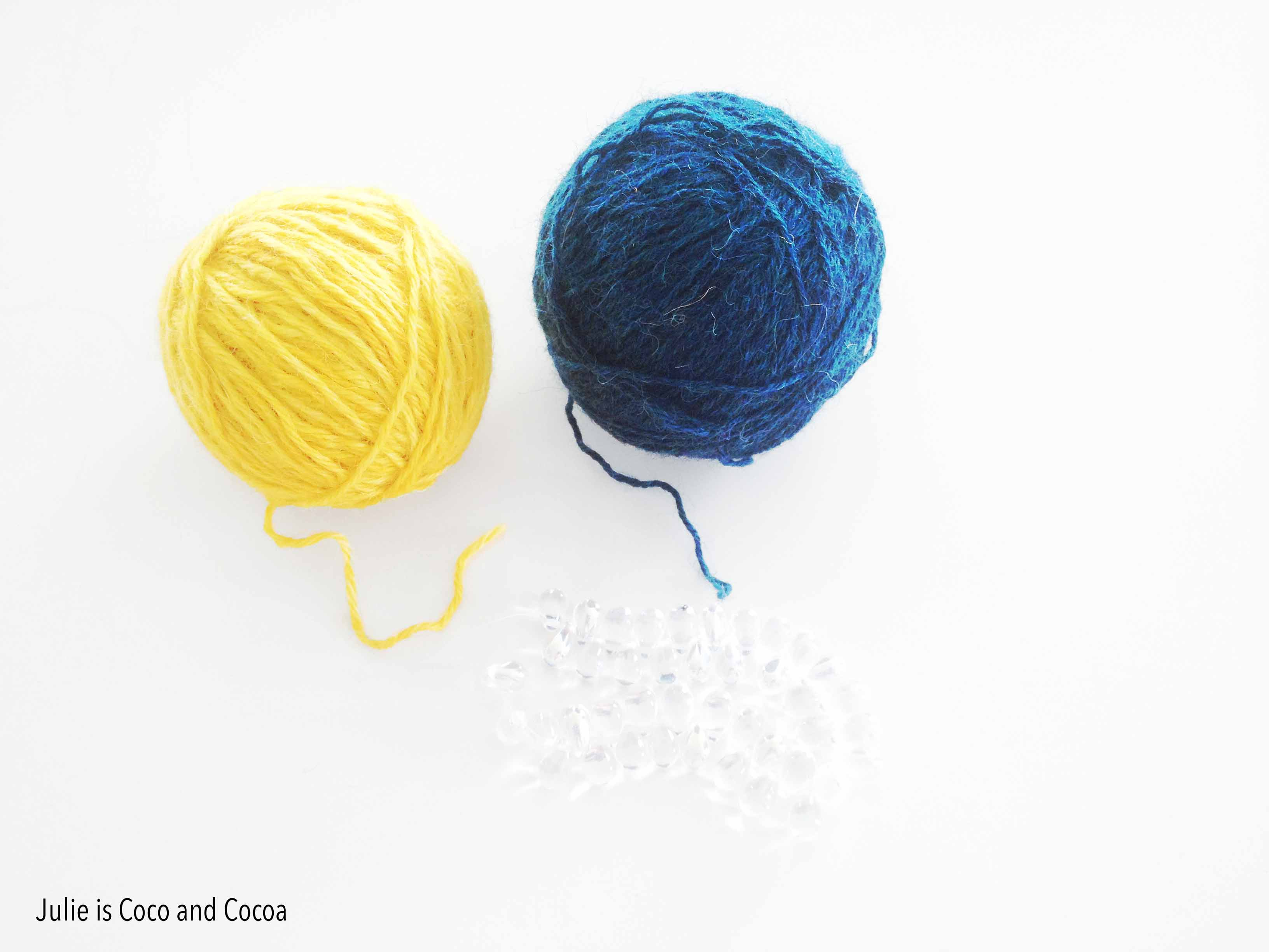crochet bead necklace supplies