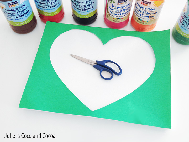 fathers day heart canvas supplies