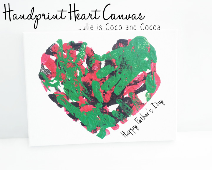 fathers day heart canvas