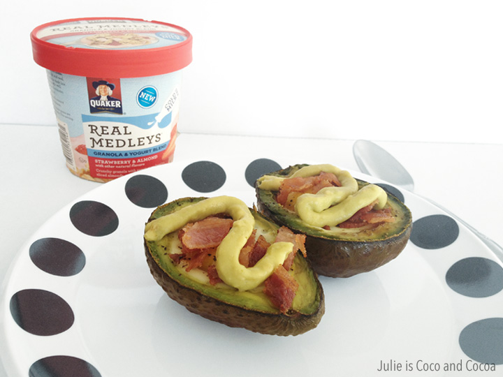 quaker real medleys yogurt cups avocado egg bacon