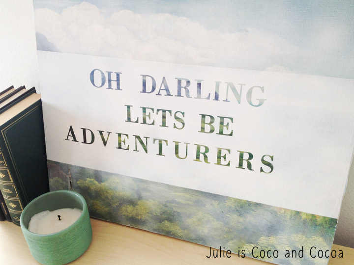 thrift store painting lets be adventurers