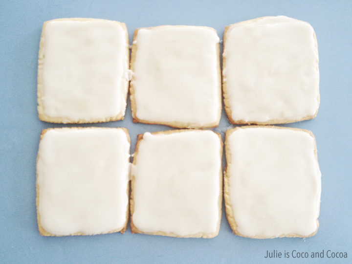 Back to School Notebook Paper Sugar Cookies
