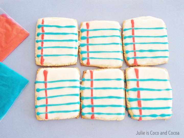Notebook paper sugar cookies
