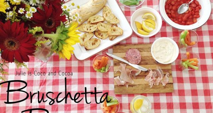 Bruschetta Bar Indoor Picnic – It's Magnifico!