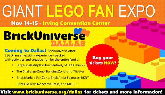 BrickUniverse Lego Fan Convention Dallas Fort Worth