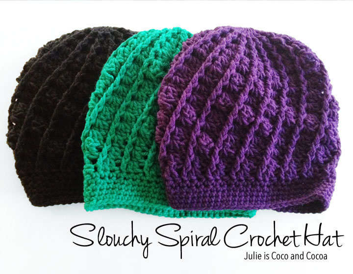 2016 top 10 Slouchy Spiral Crochet Hat Pattern