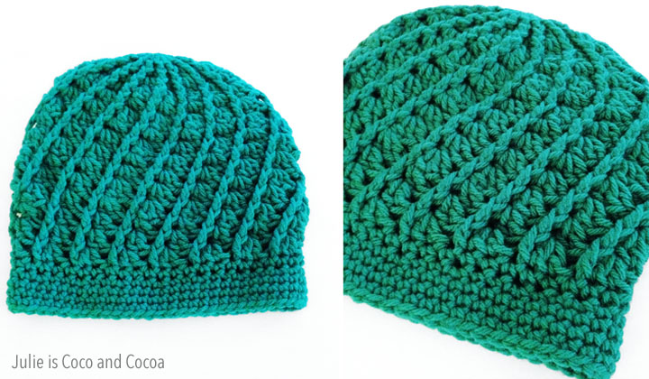 Slouchy Spiral Crochet Hat Pattern Julie Measures