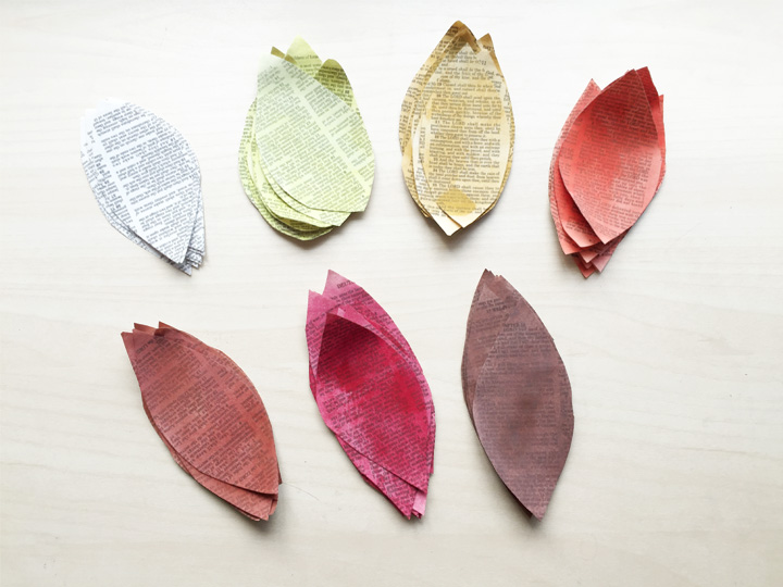Photo 3 - book page wreath leaves