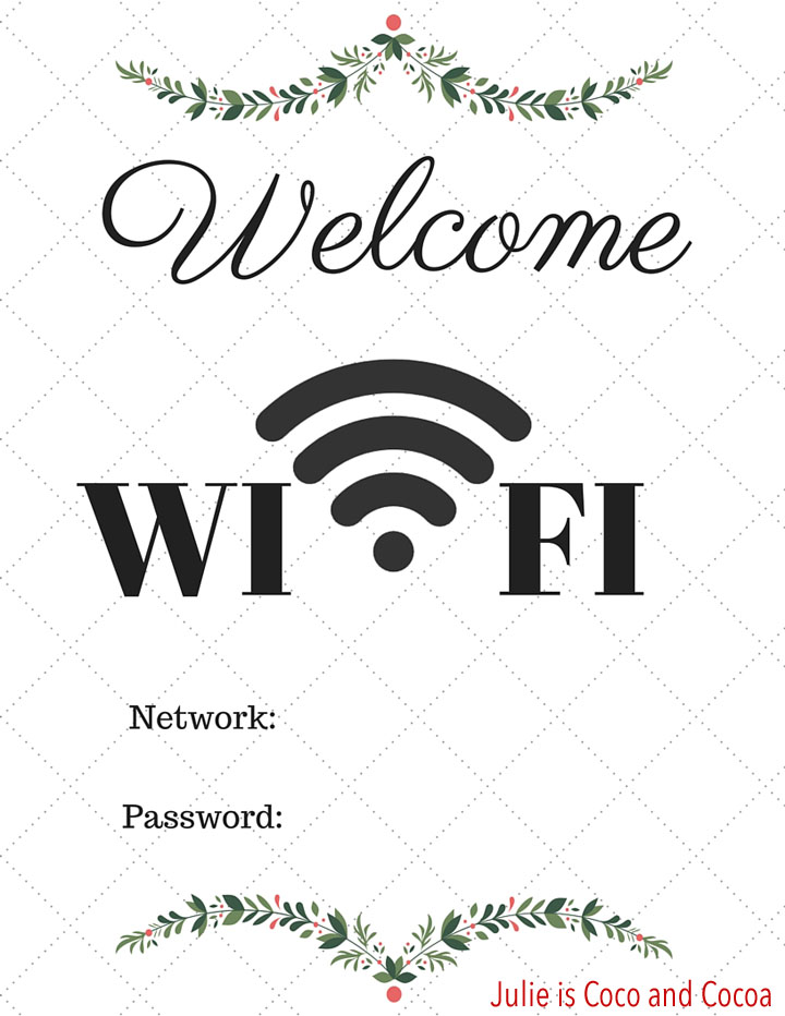 Make Your Home Guest Ready with a Wi-Fi Password Printable