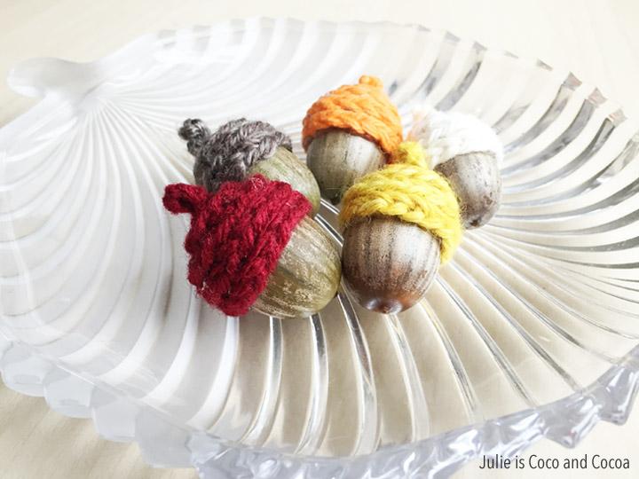 Crochet Acorn Cap using a simple crochet chain stitch