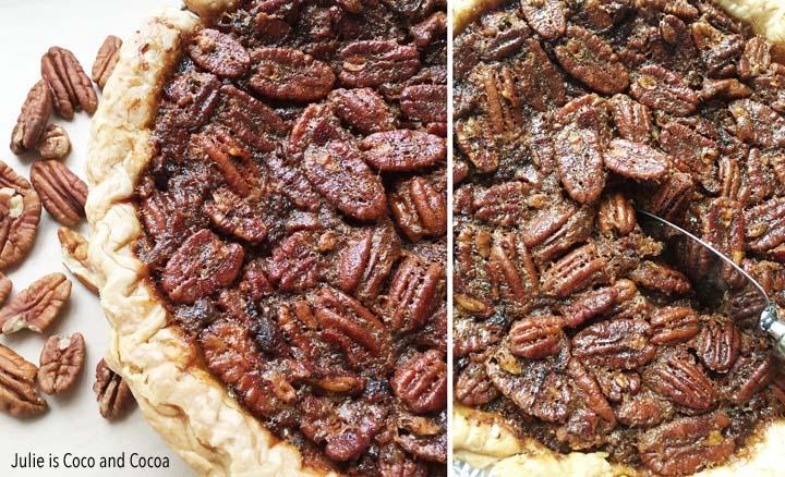 bacon pecan pie slice