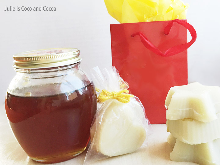 Easy DIY Honey Lotion Bars. Make up a batch of these hard lotion bars to give as gifts.