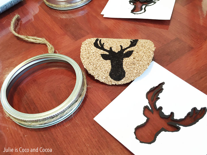 Deer Stag, Easy Mason Jar Ornaments