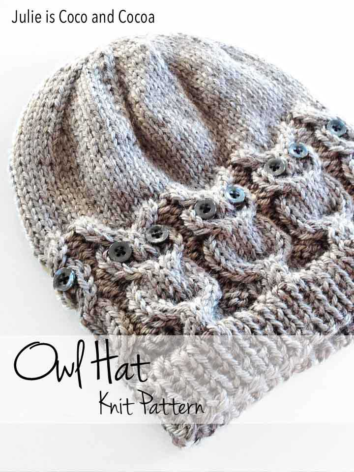 Owl Hat Knit Pattern - Julie Measures 32046517f8c1
