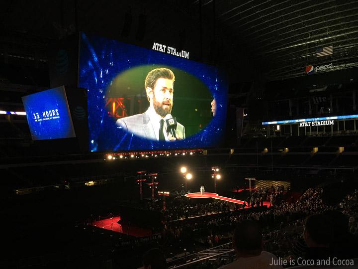 John Krasinski at the world premiere for 13 Hours