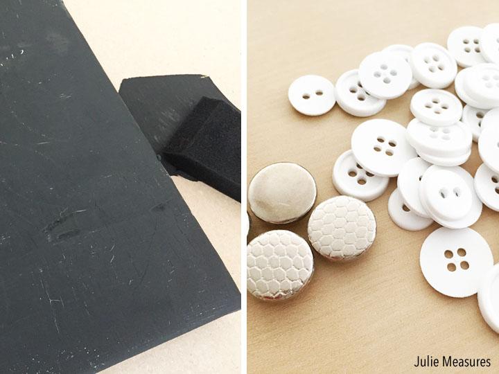 DIY Button Mitten Winter Canvas