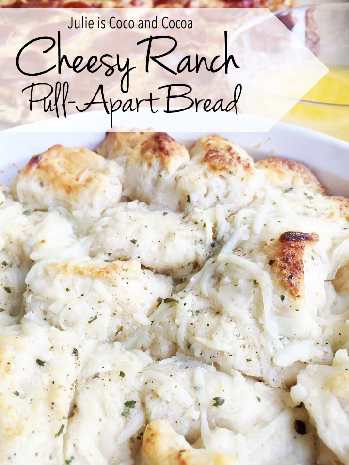 Cheesy Ranch Pull Apart-Bread with Garlic Dipping Sauce