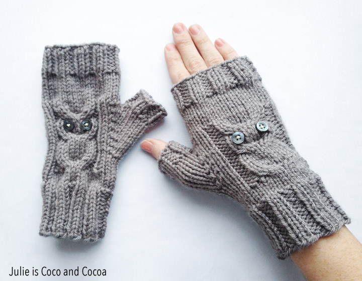 2016 top 10 Owl Gloves Knit Pattern