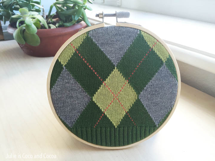 sweater embroidery hoop