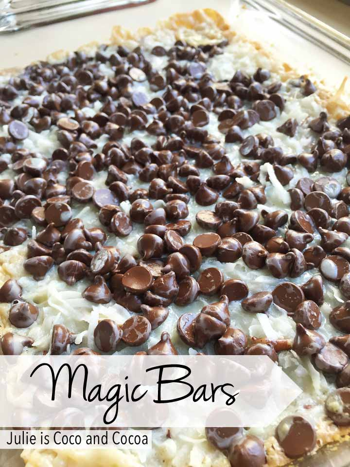 Magic Bars recipe from Julie is Coco and Cocoa