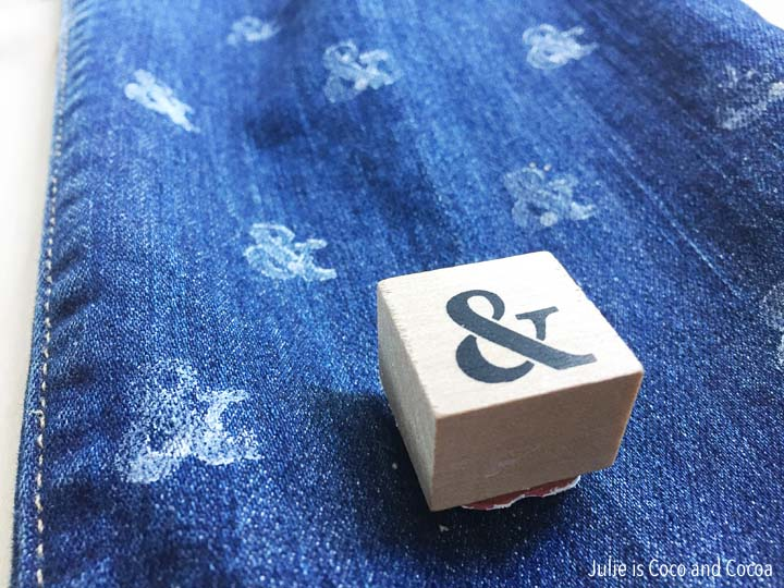 DIY Stamped Ampersand Jeans