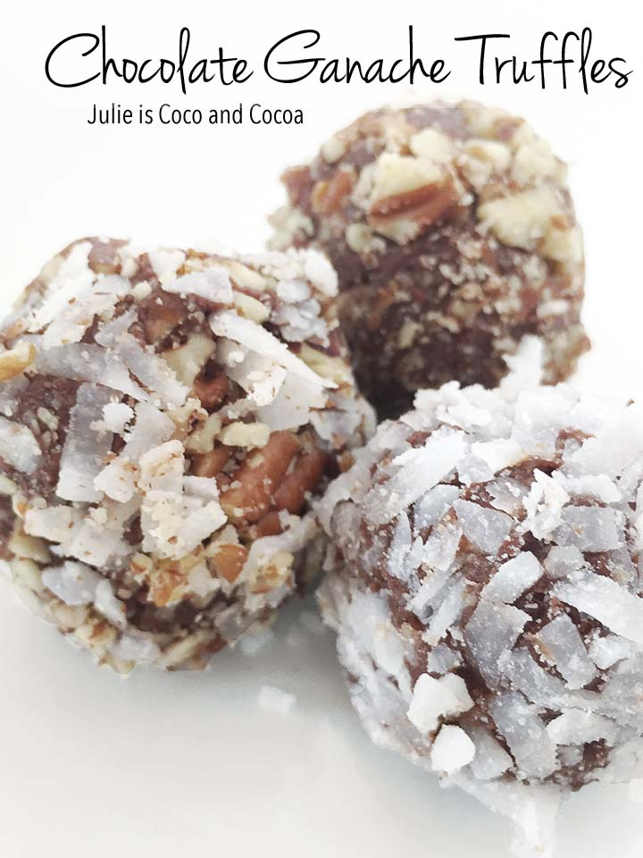 chocolate ganache coconut pecan truffles