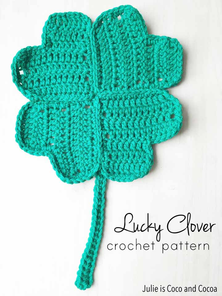 Lucky Four-Leaf Clover Crochet Pattern