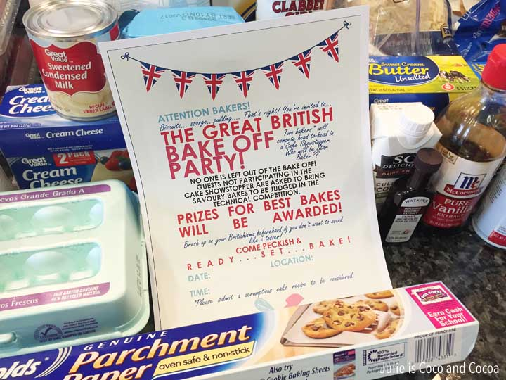 great british bake off party show stopper ingredients