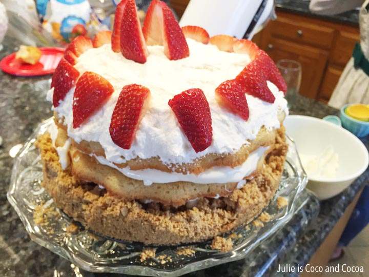 great british bake off party strawberry shortcake cheesecake