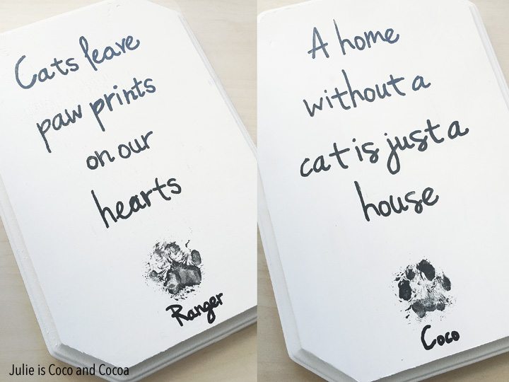 iams cats ranger and coco paw print