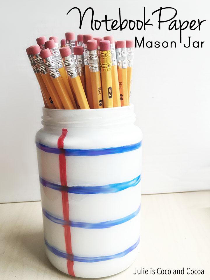 Notebook Paper Mason Jar